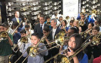 Parkland victim Alex Schachter's musical spirit lives on as 50 kids get trombones in his name